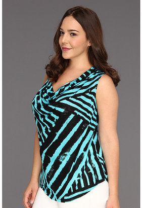 Karen Kane Plus Plus Size Drape Neck Sleeveless Top