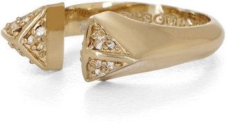 BCBGMAXAZRIA Inset Stone Triangle Ring
