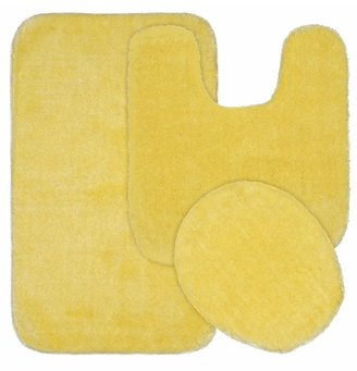 Garland Rug Deco Solid Plush 3-piece Bath Set