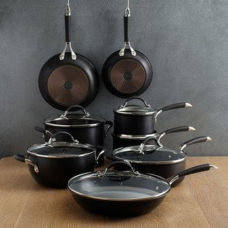 Anolon Infused Copper 14-Piece Cookware Set, Black