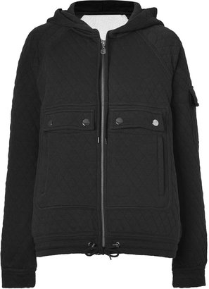 Marc by Marc Jacobs Black Gwen Quilted Hooded Jacket