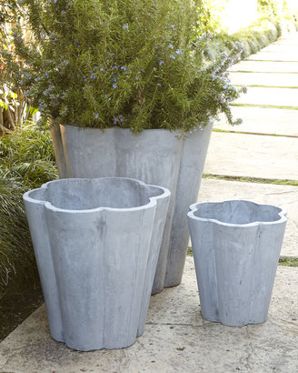 Horchow Three Scallop Planters