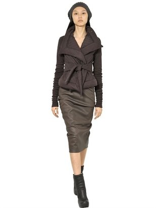 Rick Owens Quilted Viscose/Wool Jersey Jacket