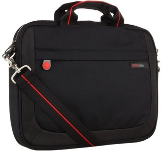 Ecco Leicester Small Laptop Bag (Black/Grey) - Bags and Luggage