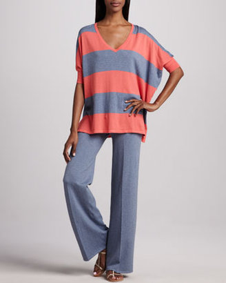 Minnie Rose Pow Block-Stripe Pullover, Women's