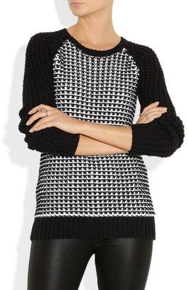 Jason Wu Crochet-knit cotton-blend sweater