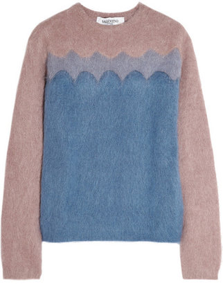 Valentino Color-block knitted sweater
