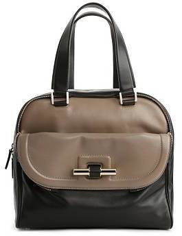 Jimmy Choo Justine Leather Bowler Satchel