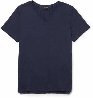 Hanro Superior Mercerised Stretch-Cotton T-Shirt $70 thestylecure.com