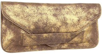 Botkier Calie Envelope Clutch (Metallic Brown Cowhide/Satin Brass) - Bags and Luggage