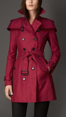Burberry Mid-length Caped Gabardine Trench Coat