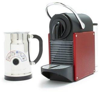 Nespresso Pixie and Aeroccino Plus Milk Frother Set, Carmine Red