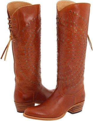 Frye Deborah Back Lace (Cognac Leather) - Footwear