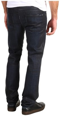 7 For All Mankind Slimmy Slim Straight in Waxed Indigo (Waxed Indigo) - Apparel