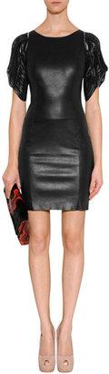 Jitrois Black Leather Josephine Dress