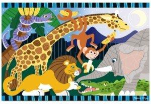 Melissa & Doug Kids Toy, Safari Social 24-Piece Floor Puzzle