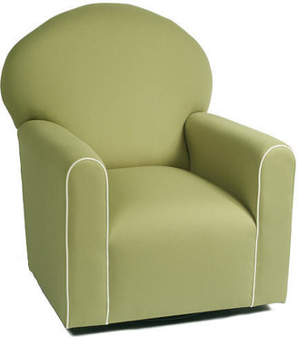 Oxford The Kacy Collection Century Tight Seat Glider - Pistachio with White Piping Fabric