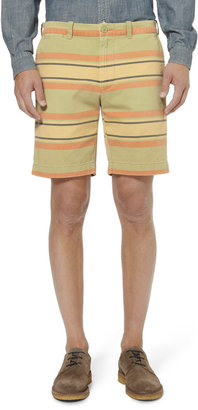 J.Crew Striped Cotton-Twill Shorts