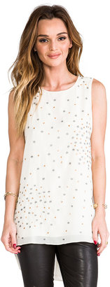 MM Couture by Miss Me Sleeveless Top w/ Beading