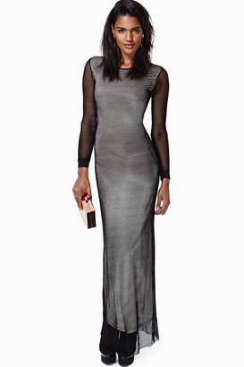 Nasty Gal Caged Heat Net Maxi Dress