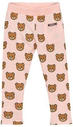 Moschino Kid-Teen Pink Bear Print Leggings