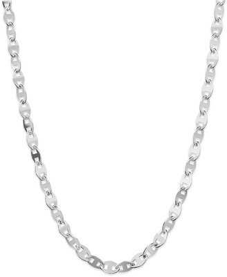"Giani Bernini Sterling Silver Necklace, 18"" Wide Link Chain Necklace"
