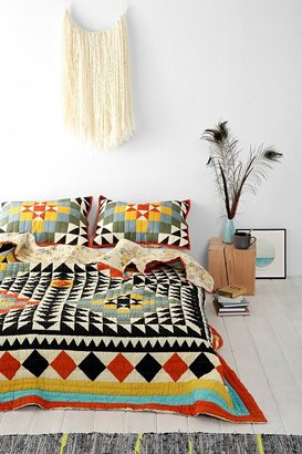Urban Outfitters Kaleidoscope Patchwork Quilt