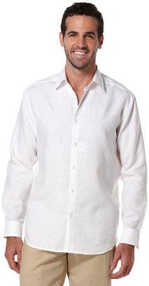 Cubavera Long Sleeve Linen Embroidered Shirt
