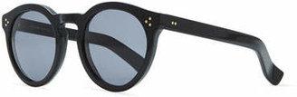 Illesteva Leonard II Round Sunglasses, Black $290 thestylecure.com
