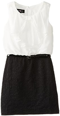 Amy Byer Big Girls' Bow Front Dress