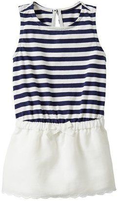 Gap Scalloped stripe dress
