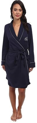 Lauren Ralph Lauren Hartford Lounge Short Shawl Collar Robe (Windsor Navy) Women's Robe