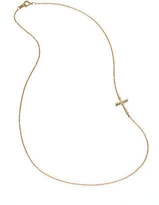Mizuki 14K Yellow Gold Cross Chain Necklace