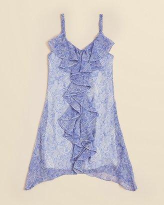 Sally Miller Girls' Paisley Ruffle Dress - Sizes S-XL