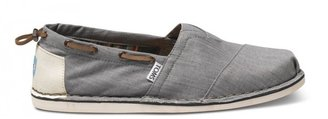 Toms Grey Denim Bimini Men's Stitchouts