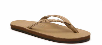 Rainbow Women's Flirty Braidy Flip Flop -Tan
