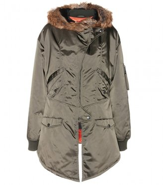 McQ Parka with faux fur-trimmed hood