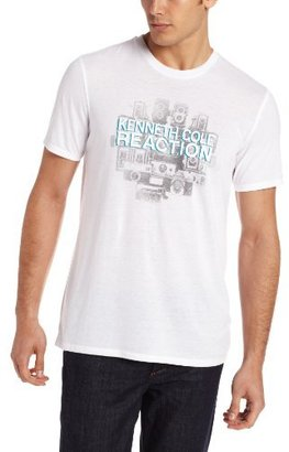 Kenneth Cole Reaction Men's Weight Logo Short Sleeve Crew Tee