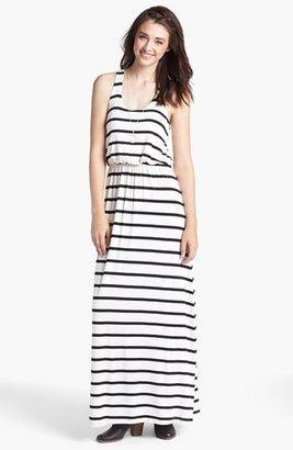 Lush Stripe Racerback Maxi Dress (Juniors)
