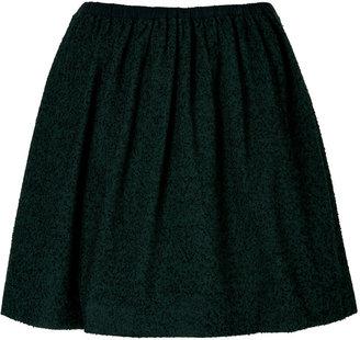 Tibi Emerald/Black Tweed Skirt