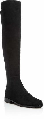 Stuart Weitzman 5050 Stretch Suede Over The Knee Boots $655 thestylecure.com