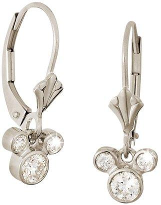 Disney Diamond Dangle Icon Mickey Mouse Earrings 14K
