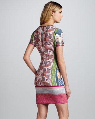 Taj Mahal Clover Canyon Necklace-Print Dress