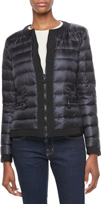Moncler Marais Ribbed Trim Puffer Jacket