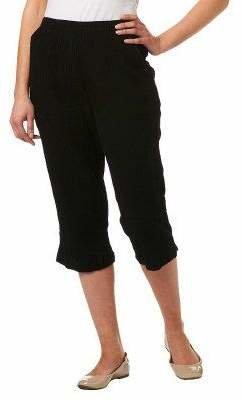 Denim & Co. Classic Waist Crinkle Gauze Capri Pants