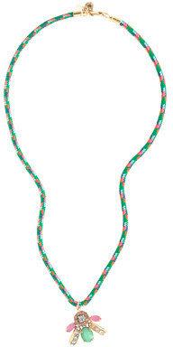 J.Crew Girls' corded bee pendant necklace