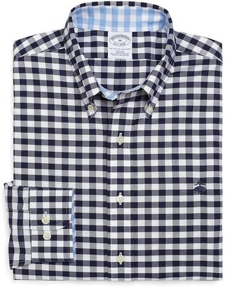 Brooks Brothers Non-Iron Slim Fit Oxford Gingham Sport Shirt