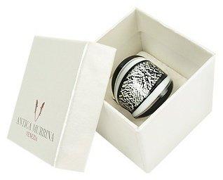 Murano Antica Murrina Cuba - Black and White Glass Ring