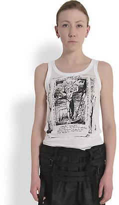 Ann Demeulemeester Printed Cotton Jersey Tank