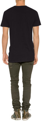 Neil Barrett Super Skinny Jeans with Badges in Old Dark Military